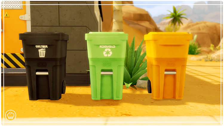 Outdoor Bin Recolors for The Sims 4