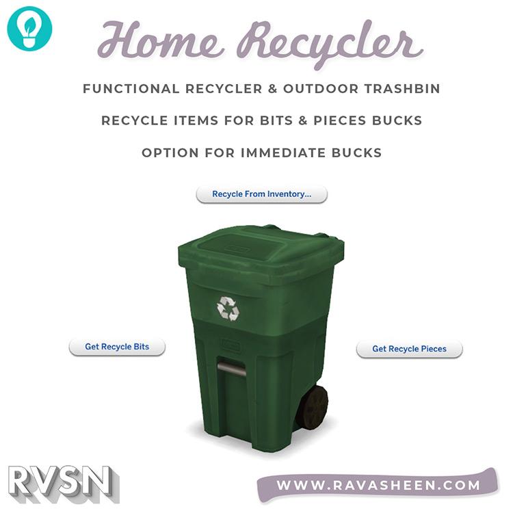 Trash Talk Home Recycler / TS4 CC
