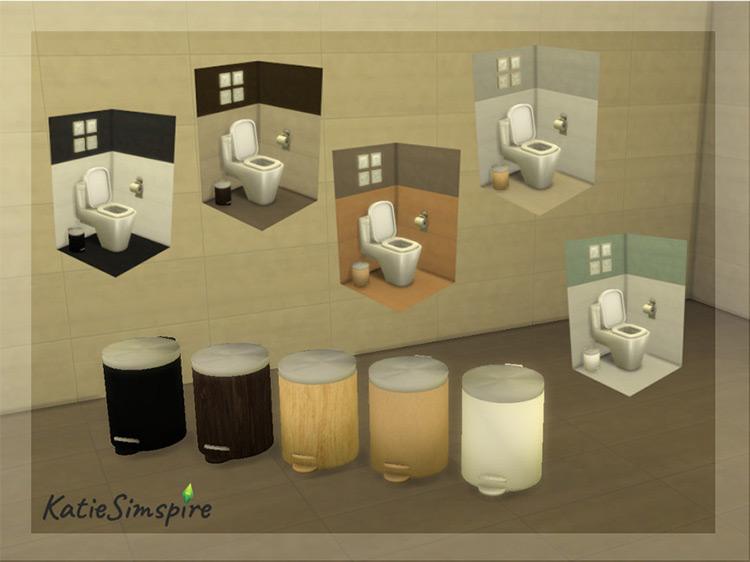 Bathroom Step Trash Can / Sims 4 CC