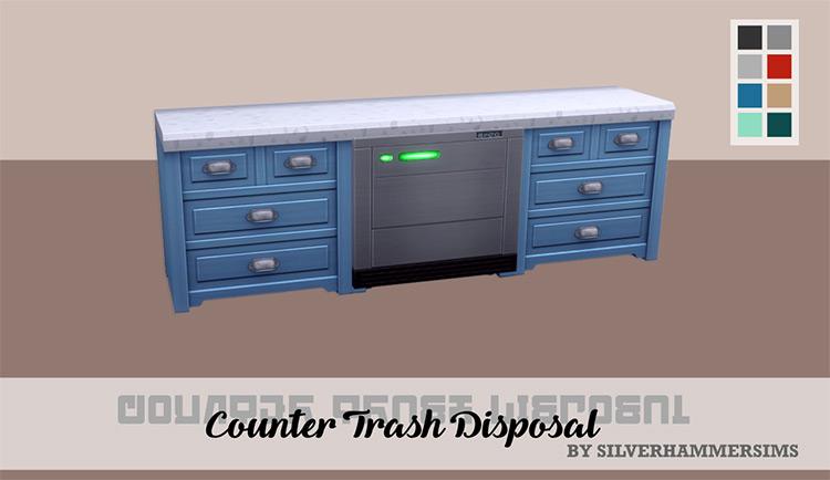 Counter Trash Disposal Unit / Sims 4 CC