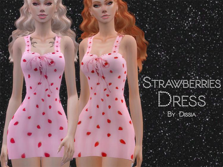 Strawberries Dress Preview / TS4 CC
