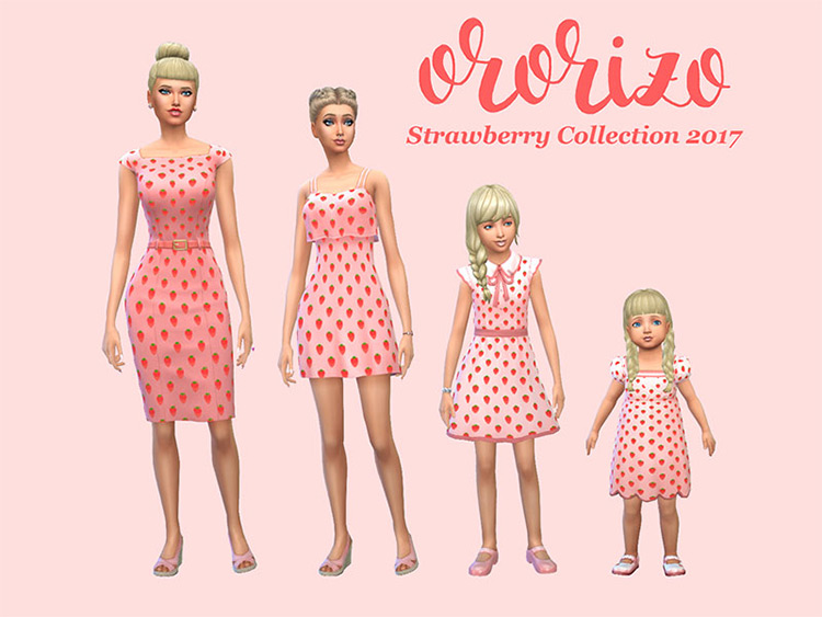 Strawberry Dress Collection for The Sims 4