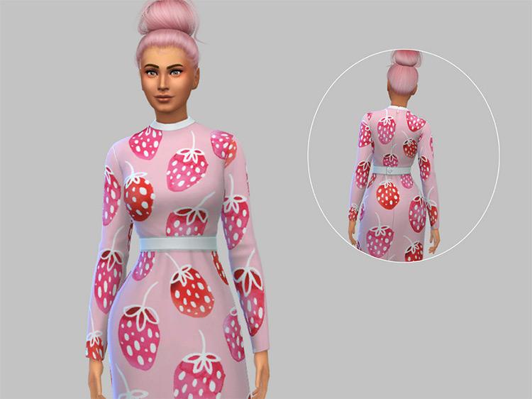 Vintage Strawberry Dress / Sims 4 CC