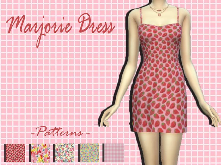 Marjorie Dress / Sims 4 CC
