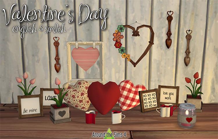 AroundTheSims4 Valentine's Day / Sims 4 CC