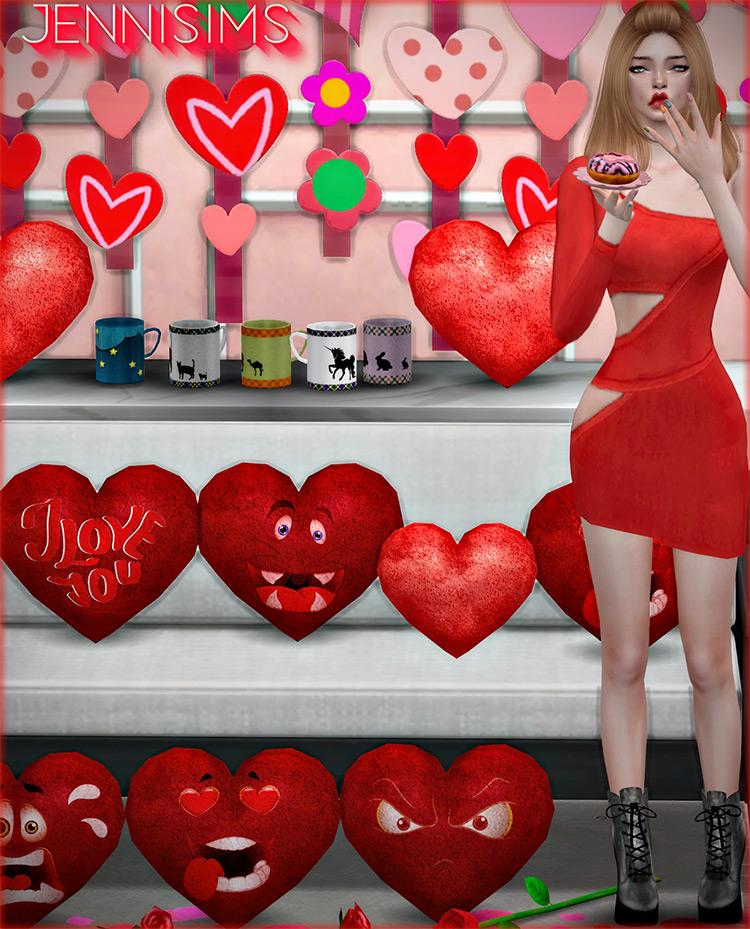 Valentine's Day Decorative Clutter / TS4 CC