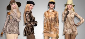 Sims 4 Faux Fur Jackets Preview / Sims 4 CC
