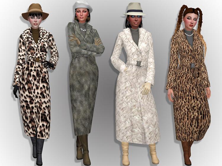 Faux Fur Coats / TS4 CC