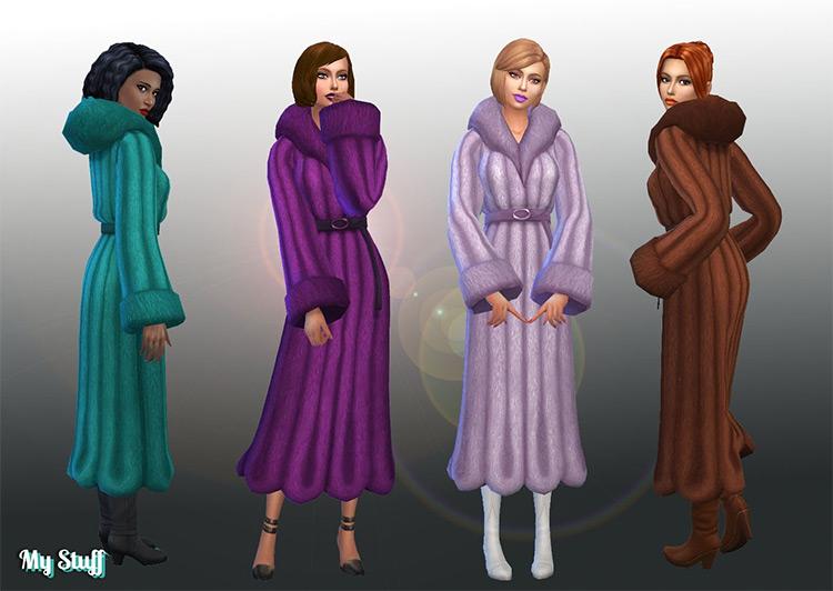 Coat Fur Trim Conversion / Sims 4 CC