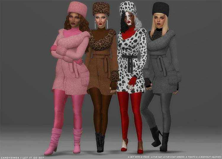 Let It Go Fur Coat Set / TS4 CC