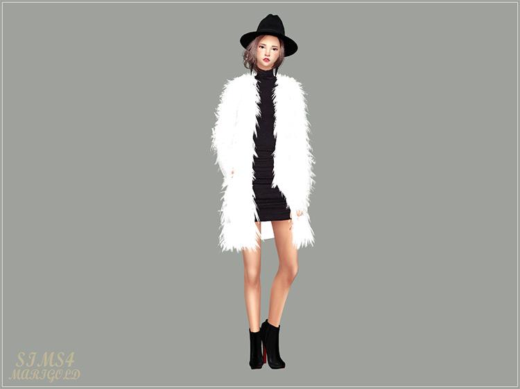 Male & Female Long Fur Jacket / Sims 4 CC