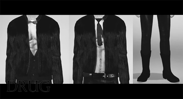 Fur Coat for Males / Sims 4 CC