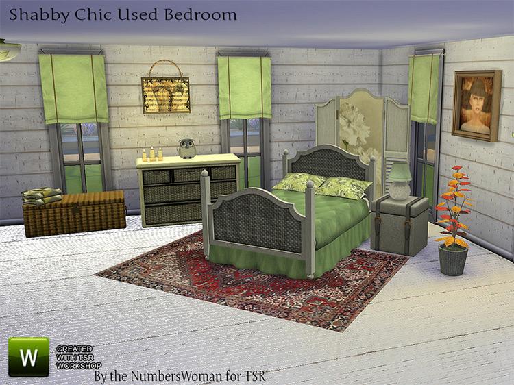 Shabby Bargain Bedroom / Sims 4 CC
