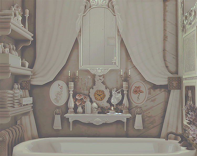 Shabby Chic Bathroom Pack for The Sims 4