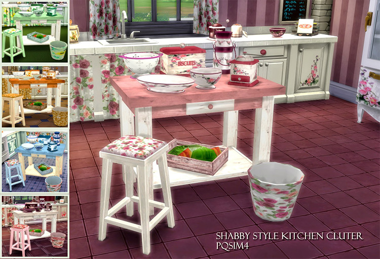 Shabby Style Kitchen Clutter / Sims 4 CC