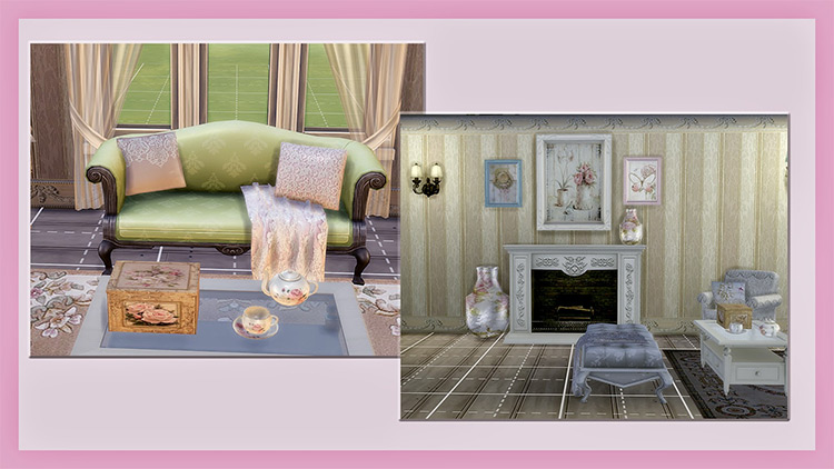 Shabby Chic Stuff Pack for The Sims 4