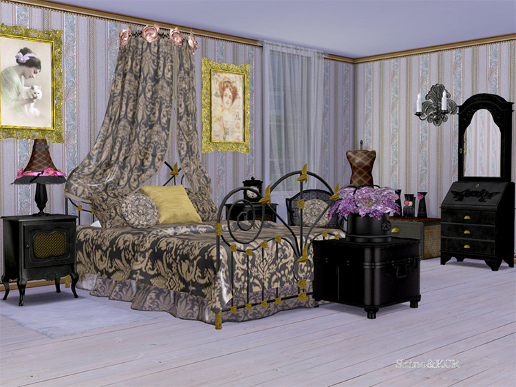 Shabby Chic Bedroom Collection Set for The Sims 4