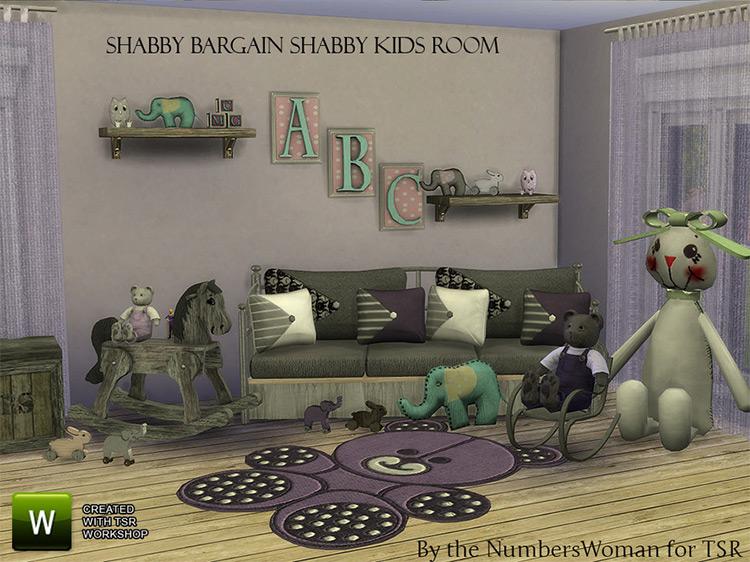 Shabby Bargain Kids Stuff / TS4 CC