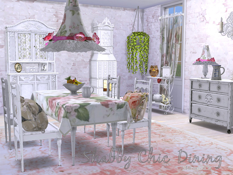 Shabby Chic Dining Collection / Sims 4 CC