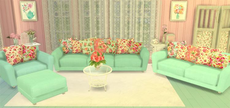 Shabby Chic Living Room Stuff / TS4 CC