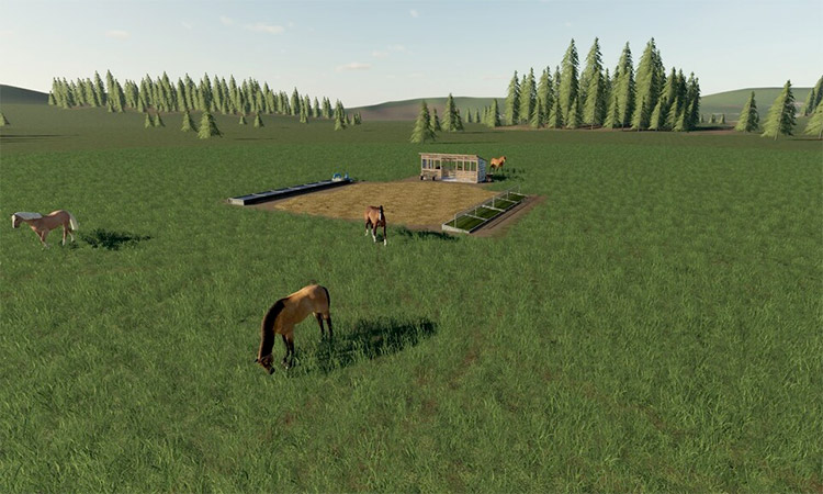Open Horse Pasture Mod for FS19