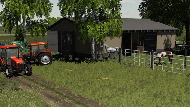 Modern Polish Stable Mod for FS19