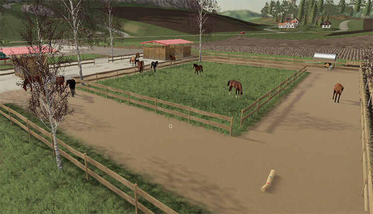 Active Horse Stable Mod for FS19