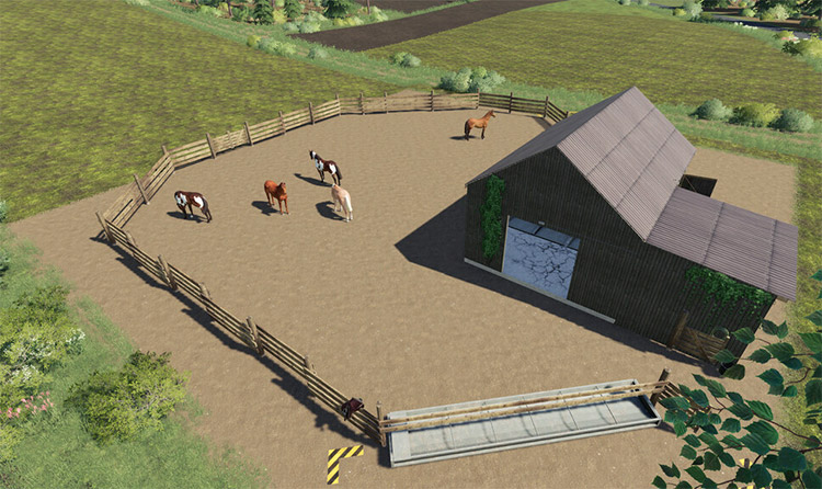 Small Horse Stable Mod for FS19