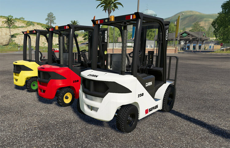 Clark S-series Forklifts in FS19