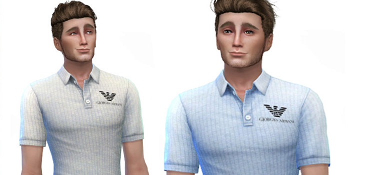 Giorgio Armani Polo Shirts in The Sims 4