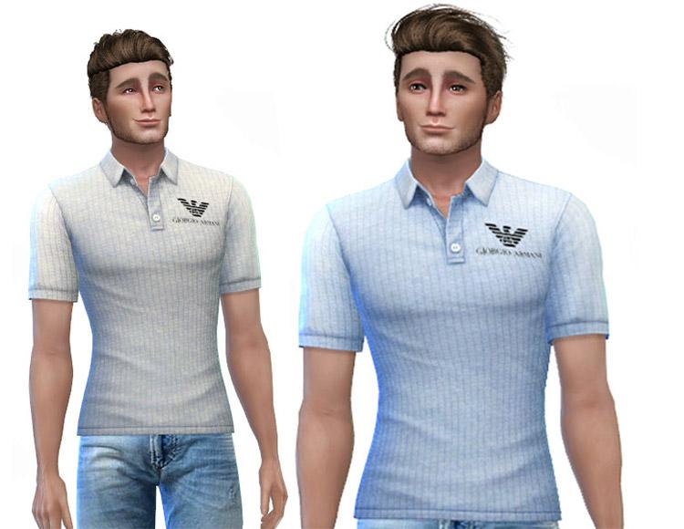 Armani Polo Shirts CC for The Sims 4