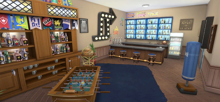 The Sims 4: Best Man Cave CC For Your Home
