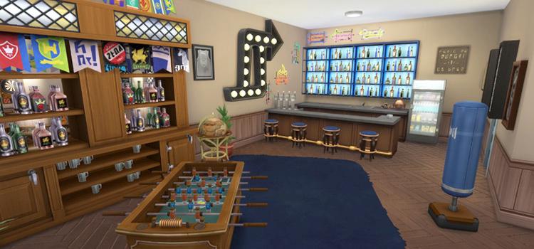 Sims 4 Man Cave Room Screenshot