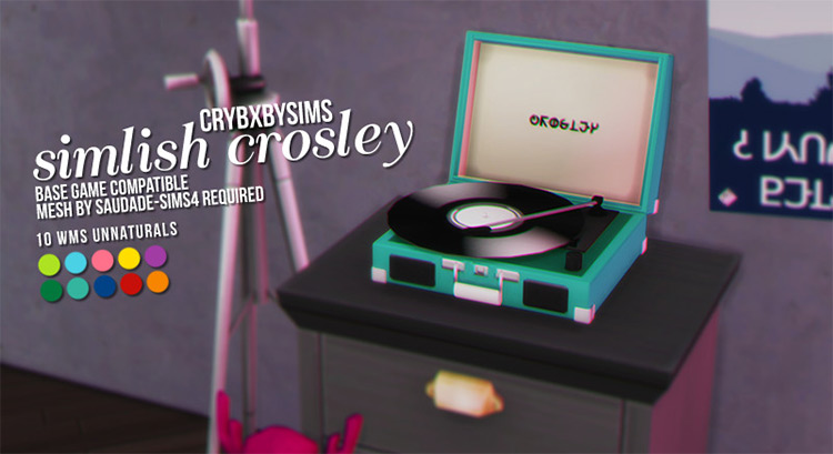 Simlish Crosley Record Player / TS4 CC