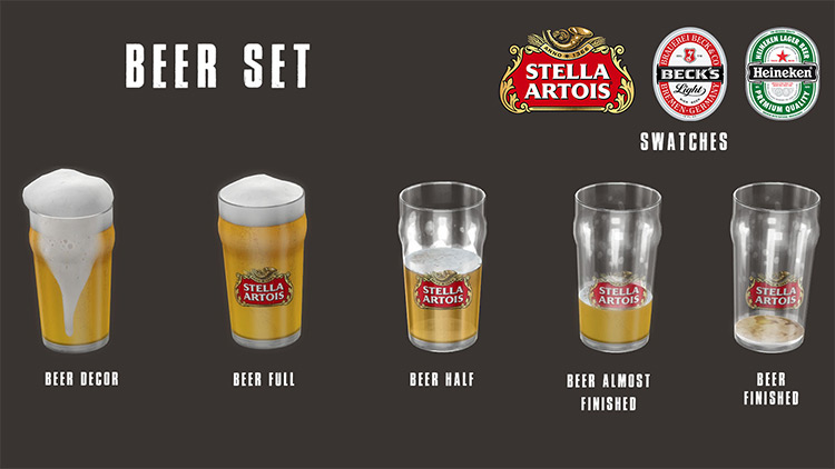 Beer Set / Sims 4 CC