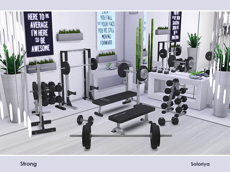 Strong Gym Set for The Sims 4