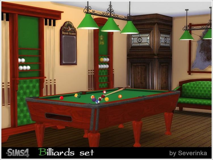 Billiards Set Décor Preview / Sims 4 CC