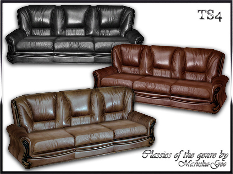 Classics Leather Set for Sims 4