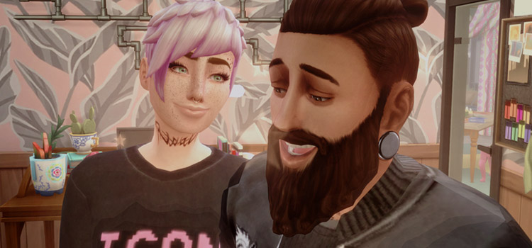Sims 4 / Girlfriend and Boyfriend with gauges