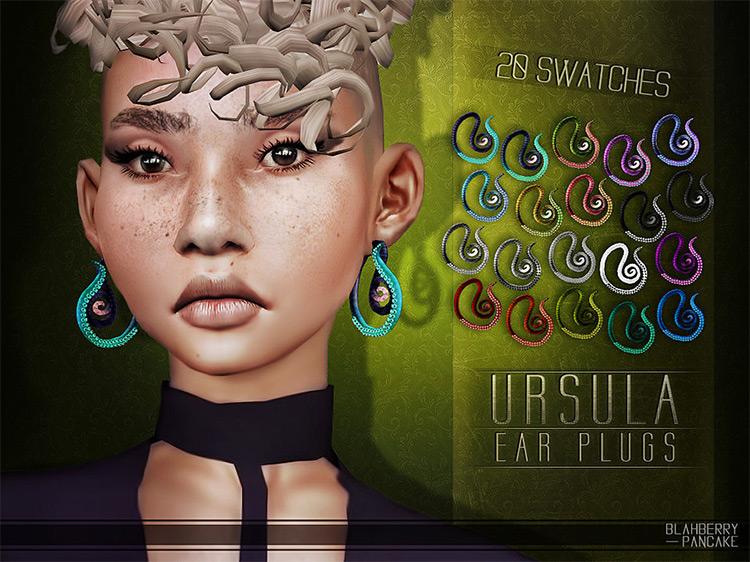 Ursula Ear Plugs for The Sims 4