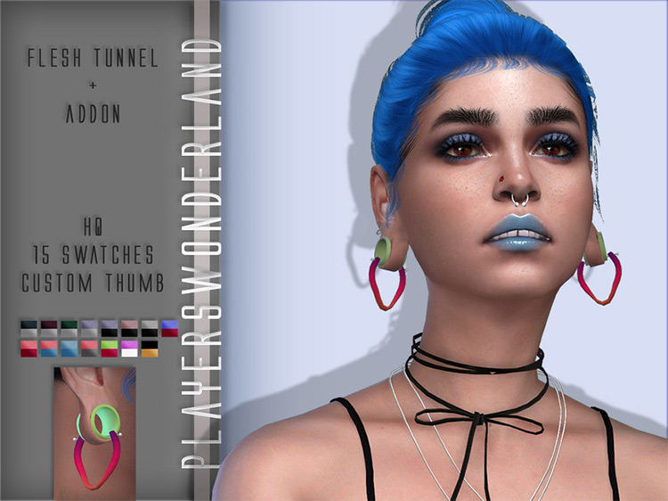 Flesh Tunnel + Addon for Sims 4