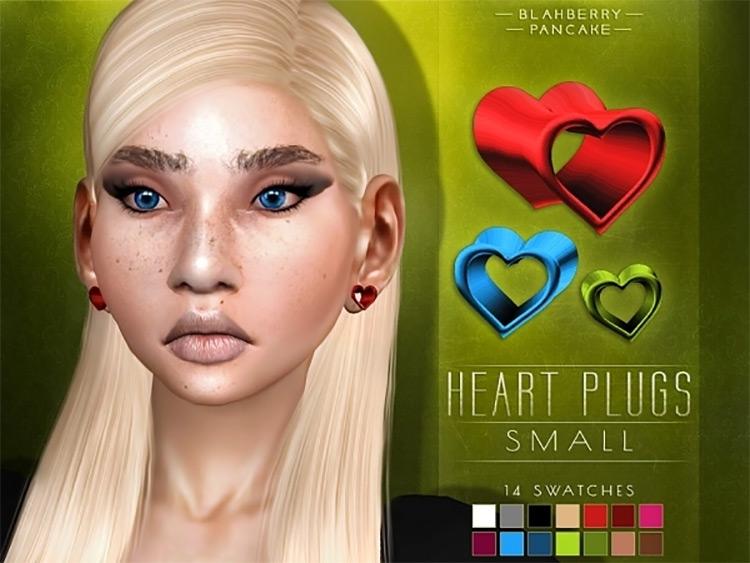 Small Heart Ear Plugs / Sims 4 CC