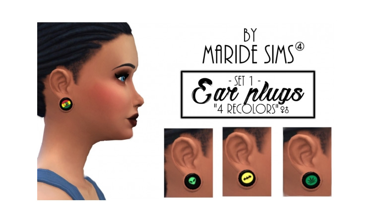 Ear Plugs CC for Sims 4 TS4 CC