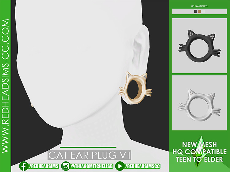 Cat Ear Plugs for The Sims 4