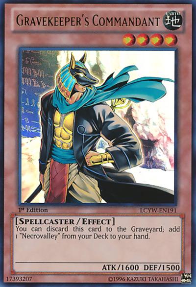 Gravekeeper's Commandant YGO Card