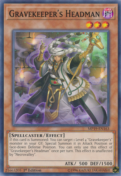 Gravekeeper's Headman YGO Card