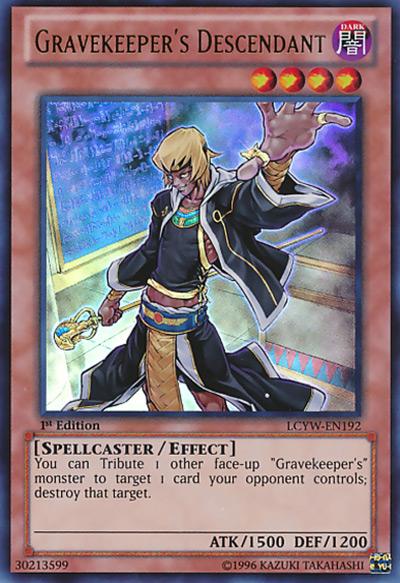 Gravekeeper's Descendant YGO Card