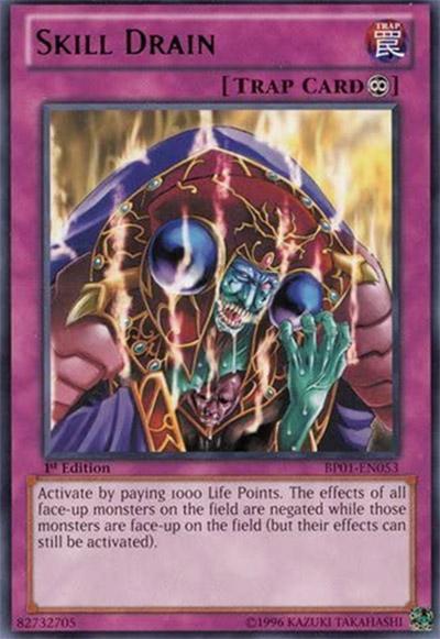 Skill Drain YGO Card