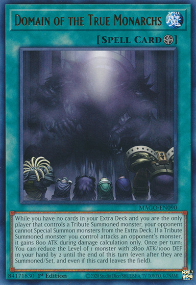 Domain of the True Monarchs YGO Card