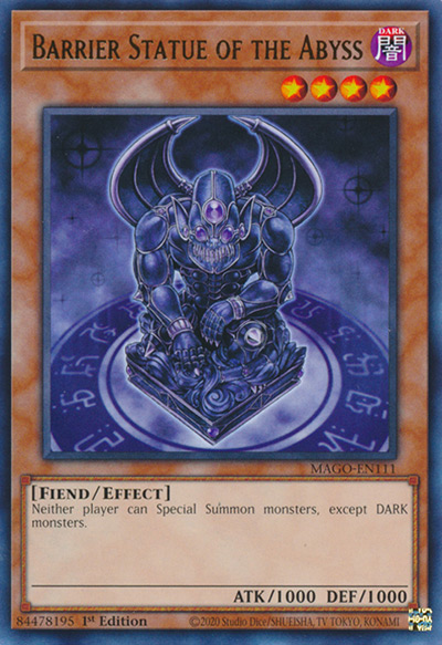 Barrier Statue of the Abyss YGO Card